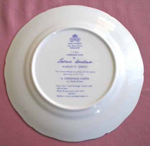 Aynsley 1980 Dickens Marley's Ghost Plate